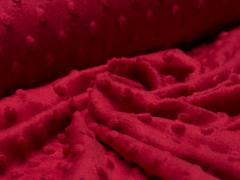 Minky Fleece - Punkte - rot