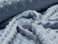 Minky Fleece - Punkte - rauchblau