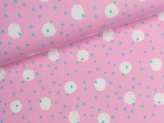 Jersey Single - Punkte - Kinderträume - rosa