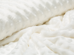 Minky Fleece - Punkte - natur