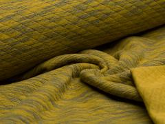 Baumwollstepp - meliert - gelb - blau