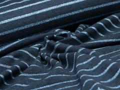 Jersey Single - Streifen - Glitzer - dunkelblau - blau