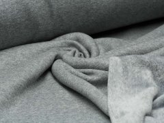 Alpenfleece - grau - meliert - uni