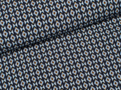 Viskose - Rauten - dunkelblau - hellblau