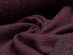 BIO Jacquard - Knit Knit - Glam Edition - Glitzer - Hamburger Liebe - Albstoffe - dunkelrot