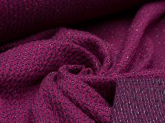 BIO Jacquard - Knit Knit - Glam Edition - Glitzer - Hamburger Liebe - Albstoffe - pink