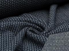 BIO Jacquard - Knit Knit - Glam Edition - Glitzer - Hamburger Liebe - Albstoffe - dunkelblau
