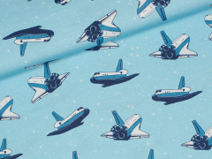 Jersey Single - Spaceman - Space Shuttle - JatiJu - Hilco - hellblau
