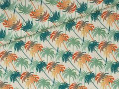 Popeline - Tropic Palm - Palmen - Hilco - natur