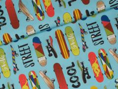 Popeline - Cool Guys - Skateboard - Hilco - blau
