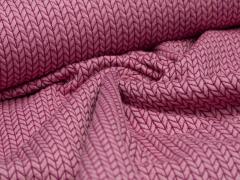 BIO Jacquard - Big Knit - Edition - Hamburger Liebe - Albstoffe - rosa