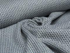 BIO Jacquard - Big Knit - Edition - Hamburger Liebe - Albstoffe - hellgrau - blau