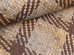 Kunstleder - Taschenstoff - Flechtmuster - braun - beige - grau