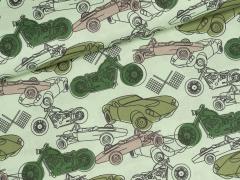 Baumwolle - Auto - Motorrad - hellgrün
