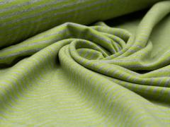Jersey Single - Streifen - Stenzo - grün - grau meliert