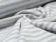 Jersey Jacquard - Streifen - Stenzo - grau - weiß