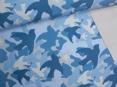 Softshell - Camouflage - blau
