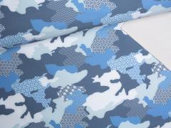 Softshell - Camouflage - blau - rauchblau