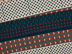Jersey Viskose - Big Dots - Hilco - blau