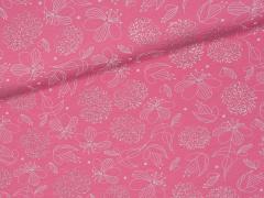 Jersey Single - Blüten - rosa