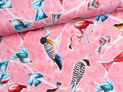 Jersey Single - Bird Parade - Vögel - rosa