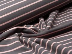 Sweat - Streifen -  grau - rosa