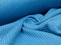 BIO Jacquard - Big Knit - Hamburger Liebe - Albstoffe - hellblau