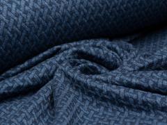 BIO Jacquard - Wave Knit - Hamburger Liebe - Albstoffe - rauchblau