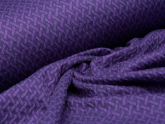 Reststück 1,20m - BIO Jacquard - Wave Knit - Hamburger Liebe - Albstoffe - lila