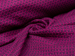 BIO Jacquard - Wave Knit - Hamburger Liebe - Albstoffe - pink - blau