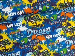 Sweat - Graffiti - Hilco - blau
