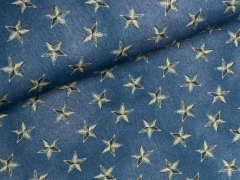 Sweat - Star Crop - Sterne - Hilco - blau