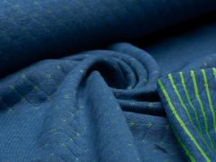 Sweat - Stepp - Punkte - Streifen - blau - grün