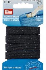 Standard-Elastic-Gummiband - 2m - 12mm - Prym schwarz-weiß