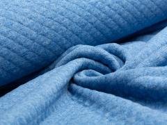 Baumwollstepp - blau meliert