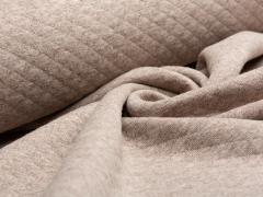 Baumwollstepp - beige - braun meliert