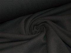 Reststück 0,55m Alpenfleece - schwarz - uni