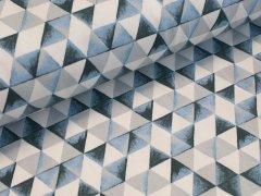 BIO Sweat - Dreiecke - blau - weiß