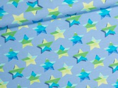 Jersey Single - stars & stripes - Sterne - JatiJu - Hilco - hellblau