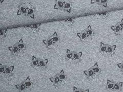 Jersey Single - Waschbären - Mini Baby - Hilco - grau meliert