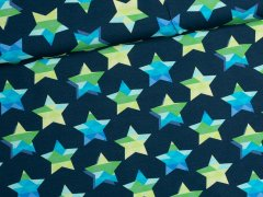 Jersey Single - stars & stripes - Sterne - JatiJu - Hilco - dunkelblau