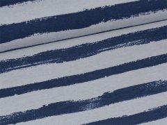 Sweat - Blockstreifen - grau - blau