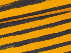 Sweat - Blockstreifen - gelb - grau