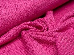 BIO Jacquard - Big Knit - Glow - Glitzer - Hamburger Liebe - Albstoffe - pink