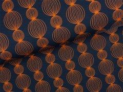 Reststück 1,15m - BIO Jersey - Garland - Glow - Hamburger Liebe - Albstoffe - dunkelblau