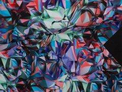 Softshell - Origami Stil - grün - rot - lila