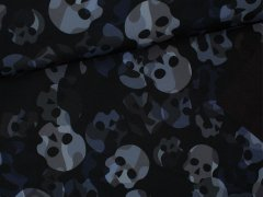 Softshell - Totenkopf - Camouflage - schwarz - grau