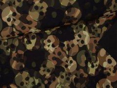 Softshell - Totenkopf - Camouflage - grün
