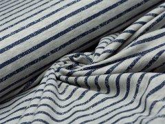Jersey Single - Streifen - Vintage - grau - dunkelblau
