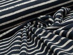 Jersey Single - Streifen - Vintage - dunkelblau - natur